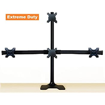 Amazon.com: EZM Deluxe Pyramid Quad Monitor Mount Stand