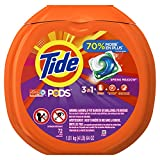 Tide PODS 3 in 1 HE Turbo Laundry Detergent Pacs, Spring Meadow Scent, 72 Count Tub