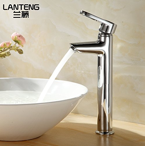 ETERNAL QUALITY Bathroom Sink Basin Tap Brass Mixer Tap Washroom Mixer Faucet Basin cold water tap on full copper basin faucet basin faucet single hole in the high Kitche