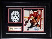 Tony Esposito Chicago Blackhawks Mask Replica Signed Photo NHL Hockey Frame