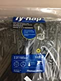 """Thomas & Betts TY25MX Cable Tie 50lb 7"""" Ultraviolet Resistant Black Nylon with Stainless Steel Locking Device Bulk Pack"""