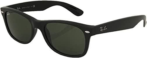 Ray_Ban New Wayfarer Sunglasses (Matte Black Frame 55mm)