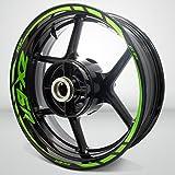 Gloss Light Green Motorcycle Rim Wheel Decal