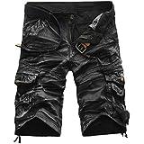 Men Pants Daoroka Mens Casual Pocket Beach Work Casual Short Comfy Fashion Sport Loose Active Trouser (Gray, 34)