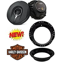 Infinity Kappa 62.11I 150W 6.5-Inch 2-Way Kappa Series Coaxial Speakers With 6-1/2 to 6-3/4 Speaker Adapter for 1998-2013 Harley Davidson