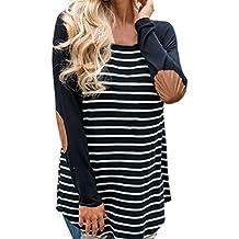 Hmlai Clearance Fashion Women Autumn Striped Long Sleeve T-Shirt Sweatshirts Baseball Blouse Tops