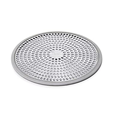 OXO Good Grips Easy Clean Shower Stall Drain Protector - Stainless Steel & Silicone
