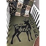 Baby Boy Hunting Quilt , Baby , Camo , Woodland , Deer , Buck , Deer Loved , Baby Bedding , Crib Bedding , Babylooms