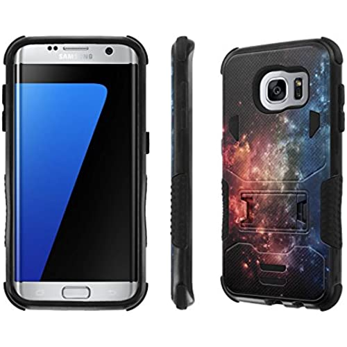 Galaxy S7 Edge Case, [NakedShield] [Black/Black] Combat Tough SHOCK PROOF with KICKStand - [Galaxy] for Samsung Galaxy S7 Edge / GS7 Edge [5.5 Sales