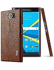 For BlackBerry Priv - Imak Crocodile PU Leather Back Hard Case Shell Cover For BlackBerry Priv Brown