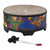 Remo KD-5816-01 KIDS PERCUSSION, Gathering Drum, 16 Diameter, 8 Height, Rain Forest Fabric