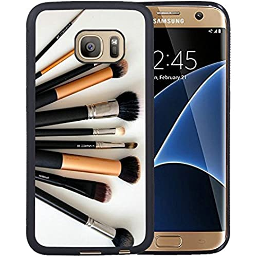 Case for Samsung Galaxy S7 Edge,Makeup Brushes Samsung Galaxy S7 Edge Case [TPU Black] Sales