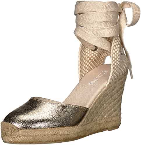 Soludos Women's Metallic Tall Wedge Pump
