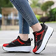 Deformation Roller Shoes Retractable Skating Shoes That Turn into Rollerskates Outdoor Parkour Shoes with Whee