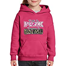 Xekia Pretty in Pink Dangerous in Camo Hoodie For Girls and Boys Youth Kids