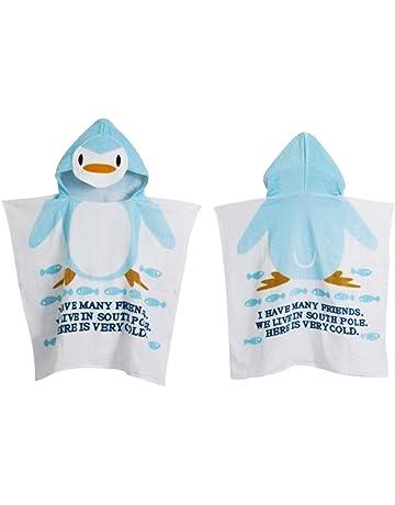 5487e14029de8 Missley Peignoir de bain pour enfants en coton cape cape capuche serviette  de bain serviette de