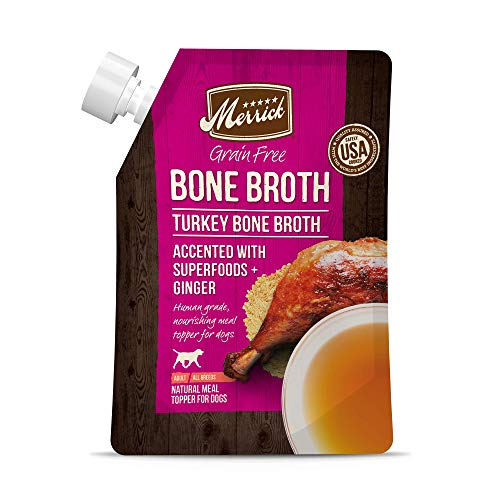 Merrick Grain Free Turkey Bone Broth, 16oz Pouch
