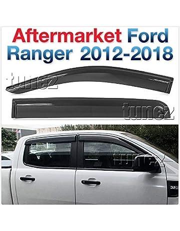 tunez WDFR01 - Deflectores de Viento para Ventana, Parabrisas y Parabrisas para Ford Ranger T6