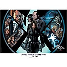 RARE POSTER marvel's AGENTS OF SHIELD limited 2018 REPRINT #'d/100!! 12x18