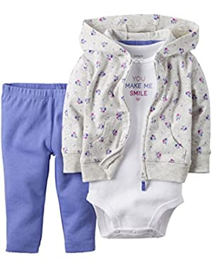 3 Piece Cardigan Set, Lilac
