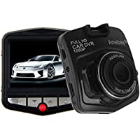Amebay Dash Cam 2.4 FHD 1080p Car Driving Camera DVR Video Recorder with Loop Recording,G-Sensor(Black)