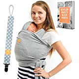 Baby Wrap Carrier 5-in-1 Bundle for Newborn, Infants...