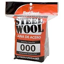 Red Devil 0321 8-Pack Steel Wool, 000 Extra Fine