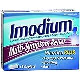 Imodium Diarrhea Plus Multi-Symptom Relief Caplets - 12 CT (Pack of 6)