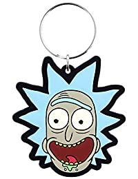 Official Licensed Rick and Morty Rick Crazy Smile Flexible Rubber Keyring