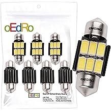"oEdRo Super Bright 31mm(1.25"") 6 SMD 5730 LED Canbus Error Free Dome Light Map Light DE3175 DE3021 DE3022 White(Pack of 4)"