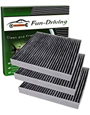 Cabin Air Filter for Honda,Acura, with Activated Carbon from Bamboo Charcoal, Replacement for CF10134, 80292-SDA-A01, 80292-SDC-A01, 80292-SEC-A01, 80292-SHJ-A41, 80292-SWA-A01, 80292-T0G-A01