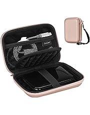 "ProCase Portable Hard Drive Case for Canvio Basics Western Digital WD Elements My Passport Seagate Portable Backup Plus Slim 1TB 2TB 3TB 4TB USB 3.0, 2.5"" Portable External Hard Drive Case -Rosegold"