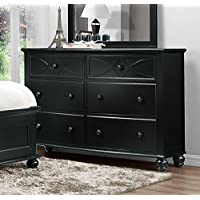 Homelegance Sanibel 6 Drawer Dresser in Black
