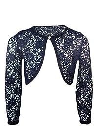 Bolero Girls Lace Long Sleeves Shrug Kids Cardigan Button Top Age New 3-14 Years