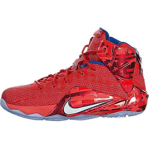 eeeab63dca7 ... shopping nike lebron xii gs big kids basketball shoe 6 lt crmsn white  brght crmsn mid
