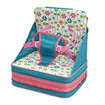 JJ Cole Summer Garden Feeding Seat, Pink/Green/Blue/Yellow/White/Orange