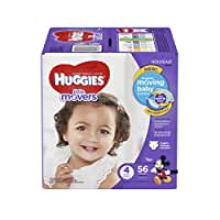 HUGGIES Little Movers Diapers, Size 4, 56 Count (Packaging May Vary)