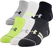 Under Armour unisex-child Essential Lite No Show Socks, 6-pairs