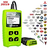 Ysding JD101 OBDII Code Reader Auto Scanner Car Engine Diagnostic Tool Check Engine light Erase Fault Codes Suitable for EOBD Vehicles with Battery Testing Function