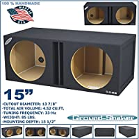 15 DUAL VENTED SLOT PORTED SUB BOX TUNED-33HZ SUBWOOFER ENCLOSURE