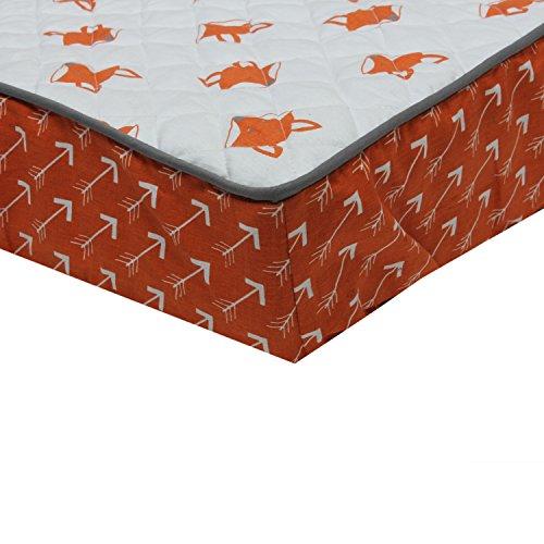Bacati PFOGCPC1 Playful Foxs Arrows Changing Pad Cover, Orange/Grey