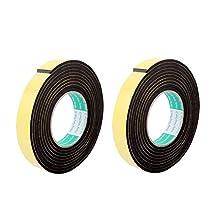 uxcell® 2 Pcs 25mmx4mm Single Sided Sponge Tape Adhesive Sticker Foam Glue Strip Sealing 3 Meters 10Ft