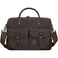 S-zone Vintage Canvas Leather 15.6
