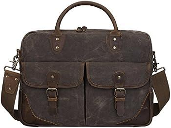 S-zone Vintage Canvas Leather 15.6
