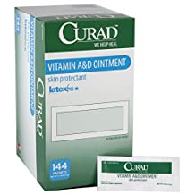 Medline Industries CUR003545 Curad A and D Ointment, 5 g Foil Packets, White (Pack of 864)