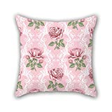 NICEPLW 18 x 18 inches / 45 by 45 cm flower throw pillow covers ,twice sides ornament and gift to lounge,outdoor,home theater,lounge,home office
