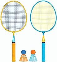 Franklin Sports Conjunto de badminton infantil – Conjunto Smashminton – Conjunto de 2 jogadores juvenil com pá