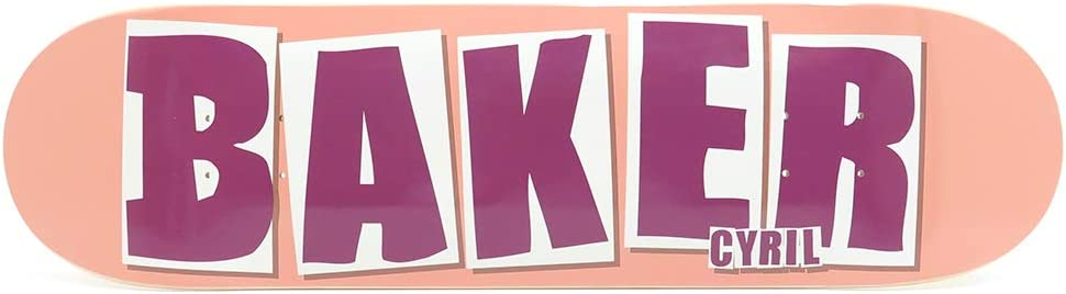BAKER DECK ベイカー デッキ CYRIL JACKSON BRAND NAME PEACH 8.25 スケートボード スケボー SKATEBOARD