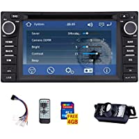 Double din Touchscreen GPS Car stereo Radio DVD Player for Toyota Corolla Ex 2008-2013 Navigation Bluetooth ready Video USB/SD car logo choose Remote control with FREE LED night view Camera included