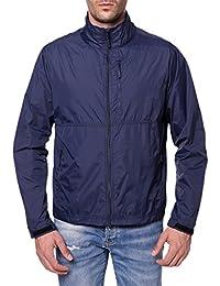Men's Standard Water-Resistant Nylon Windbreaker Front-Zip up Jacket